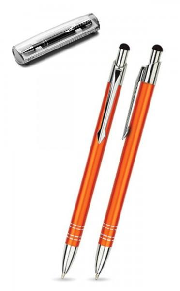 Kugelschreiber LOLA touch in orange inkl. individueller Gravur - mit Geschenkverpackung