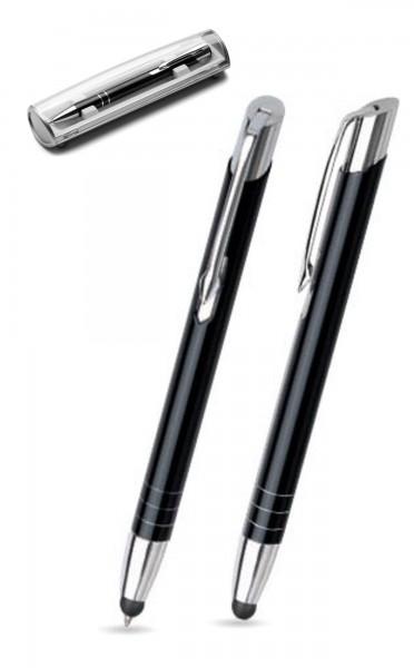 Kugelschreiber LEILA touch in schwarz inkl. individueller Gravur - mit Geschenkverpackung