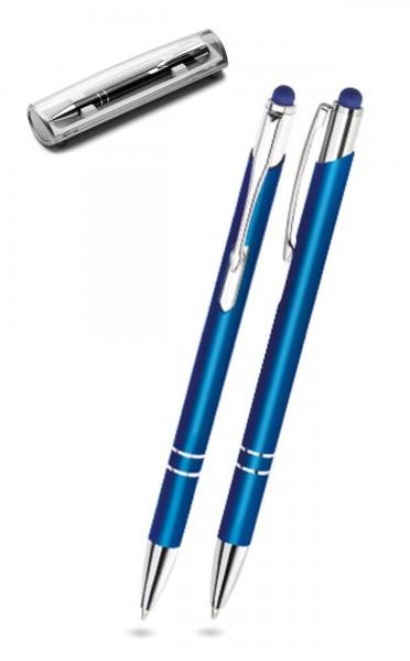 Kugelschreiber LEONI in blau inkl. individueller Gravur - mit Geschenkverpackung