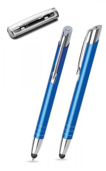 Kugelschreiber LEILA touch in dunkelblau inkl. individueller Gravur - mit Geschenkverpackung