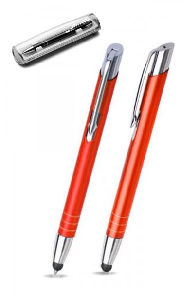 Kugelschreiber LEILA touch in orange inkl. individueller Gravur - mit Geschenkverpackung