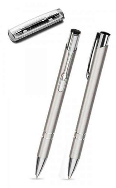 Kugelschreiber LIBO in silber inkl. individueller Gravur - mit Geschenkverpackung