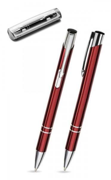 Kugelschreiber LIBO in burgund inkl. individueller Gravur - mit Geschenkverpackung