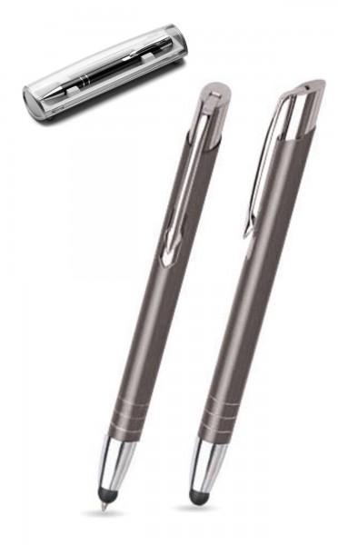 Kugelschreiber LEILA touch in anthrazit inkl. individueller Gravur - mit Geschenkverpackung